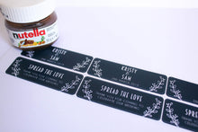 Load image into Gallery viewer, E&L Designs Custom Printed Mini Nutella Jar Stickers - Front and Back Set