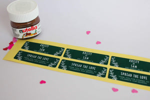 E&L Designs Custom Printed Mini Nutella Jar Stickers - Front and Back Set