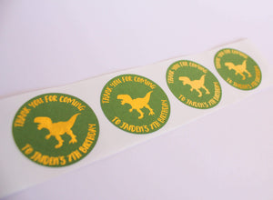 E&L Designs Dinosaur Personalised Foil Stickers | Dinosaur Theme