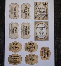 Load image into Gallery viewer, E&L Designs DIY Spooky Halloween Jar Labels - Set of 11 Stickers - Printed or Download
