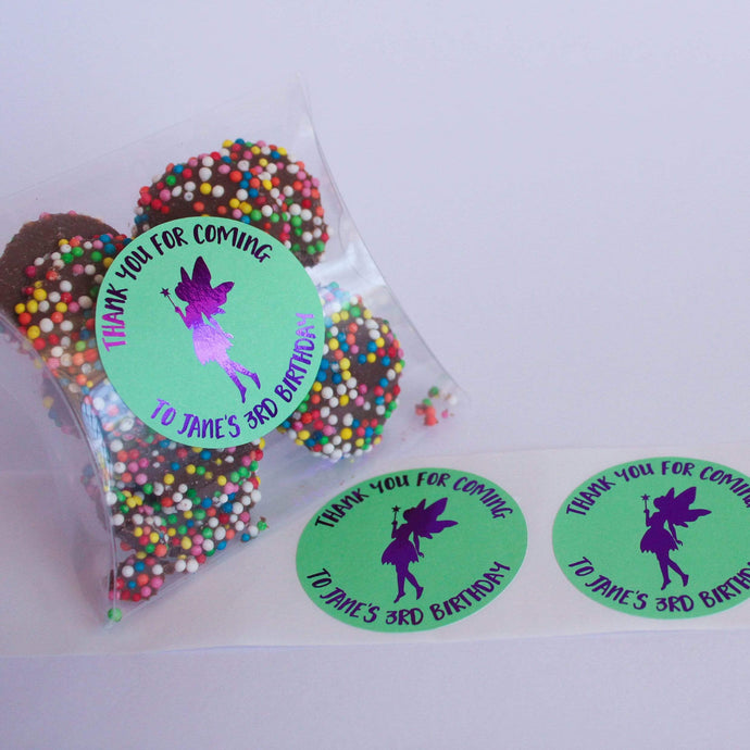 E&L Designs Fairy Personalised Foil Stickers - Fairy Theme
