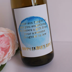 E&L Designs Father's Day Wine Bottle Foil Labels