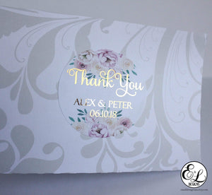 E&L Designs Floral Foil Wedding Foiled Stickers
