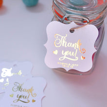 Load image into Gallery viewer, E&L Designs Foiled Artisan Shaped Thank You Gift Tags - Pack of 20