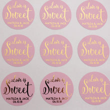 Load image into Gallery viewer, E&L Designs Foiled Coloured Wedding Favour Stickers