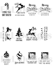 E&L Designs Funny Christmas Gift Tags -  Pack of 12