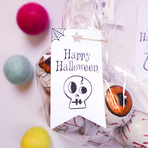 E&L Designs Halloween Flag Tags for Treat Bags