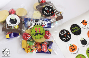 E&L Designs Halloween Party Favour Stickers
