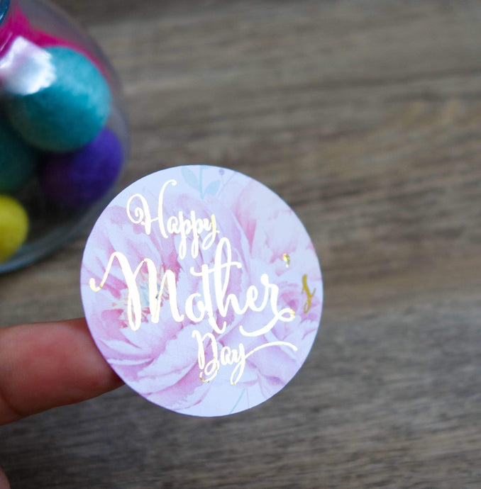 E&L Designs Happy Mother's Day Foil Stickers