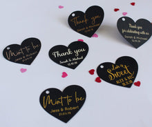 Load image into Gallery viewer, E&L Designs Heart Shaped Thank You Gift Tags - Black with Foil