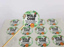 Load image into Gallery viewer, E&L Designs Jungle Safari Animal Wild One Personalised Stickers