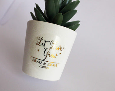 E&L Designs Let Love Grow Clear Stickers
