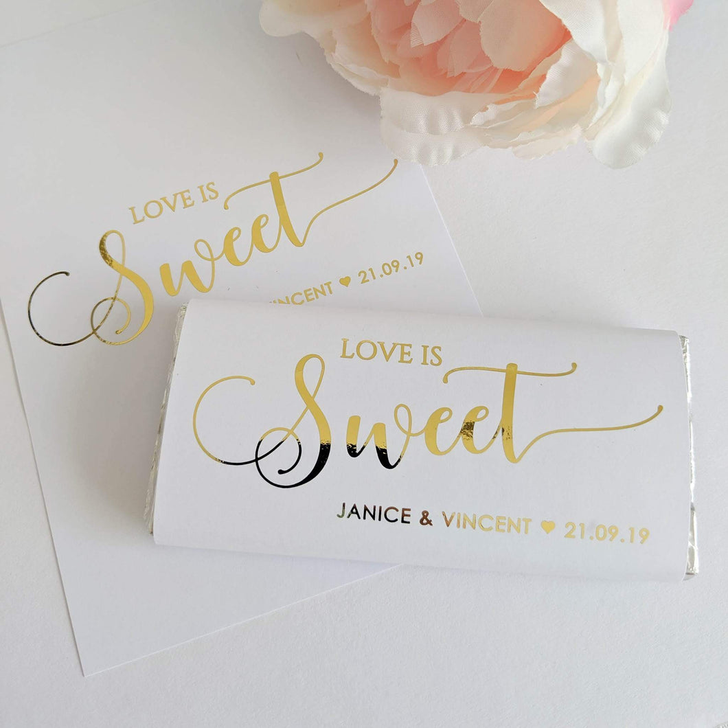 E&L Designs Love is Sweet Chocolate Wrappers x 10