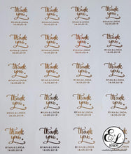 Load image into Gallery viewer, E&L Designs Matte White Foiled Wedding Stickers