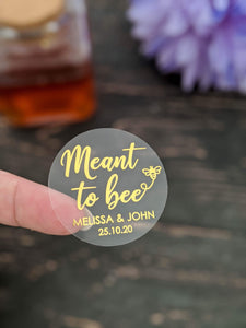 E&L Designs Meant To Bee Clear Foil Stickers