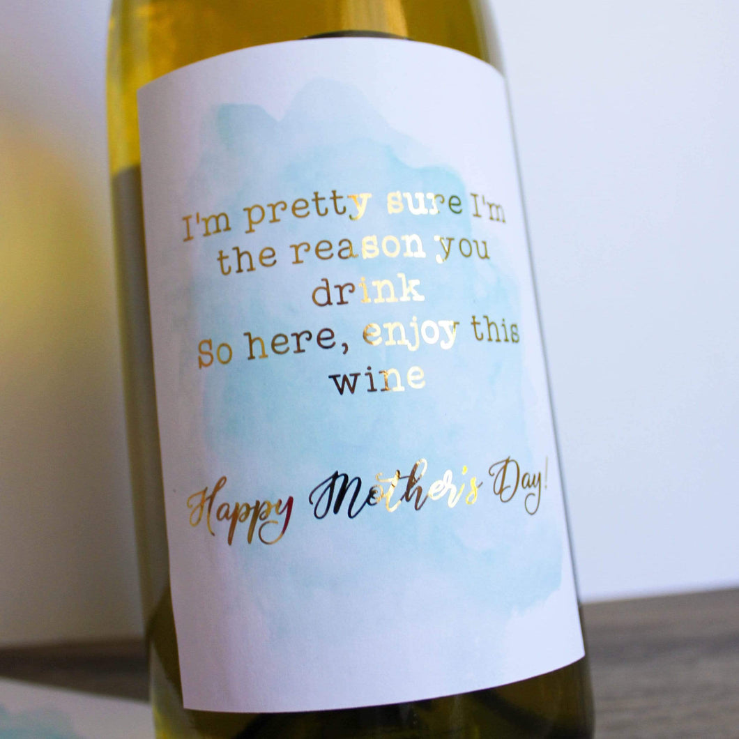 E&L Designs Mother's Day Wine Bottle Foil Label