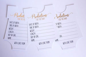 E&L Designs Personalised Baby Prediction Game Cards - Pack of 8 Cards