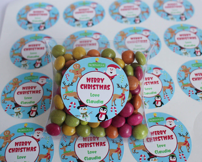 E&L Designs Personalised Children's Christmas Stickers