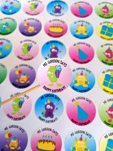 Load image into Gallery viewer, E&L Designs Personalised Happy Birthday Teacher Stickers - Set of 35 Stickers