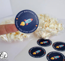 Load image into Gallery viewer, E&L Designs Personalised Space Rocket Sticker - Space Theme