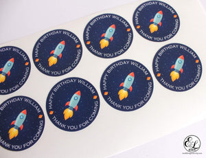 E&L Designs Personalised Space Rocket Sticker - Space Theme