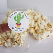Load image into Gallery viewer, E&L Designs Personalised Thanks For Sticking Around Cactus Stickers - Mexican, Cactus Theme