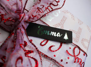 E&L Designs Personalised Thin Christmas  Tags -  Pack of 12