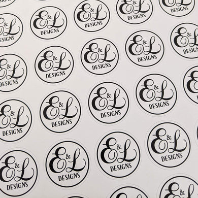 E&L Designs Printed Business Logo Stickers
