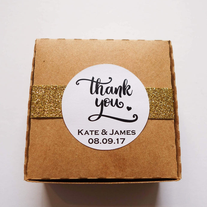 E&L Designs Printed Thank You Wedding Stickers