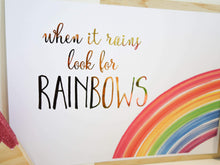 Load image into Gallery viewer, E&L Designs Rainbow A4 Wall Art with real foil