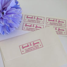 Load image into Gallery viewer, E&L Designs Return Address Labels - Clear with Foil