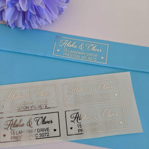 E&L Designs Return Address Labels - Clear with Foil