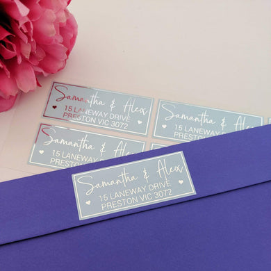 E&L Designs Return Address Labels - Colour with Foil