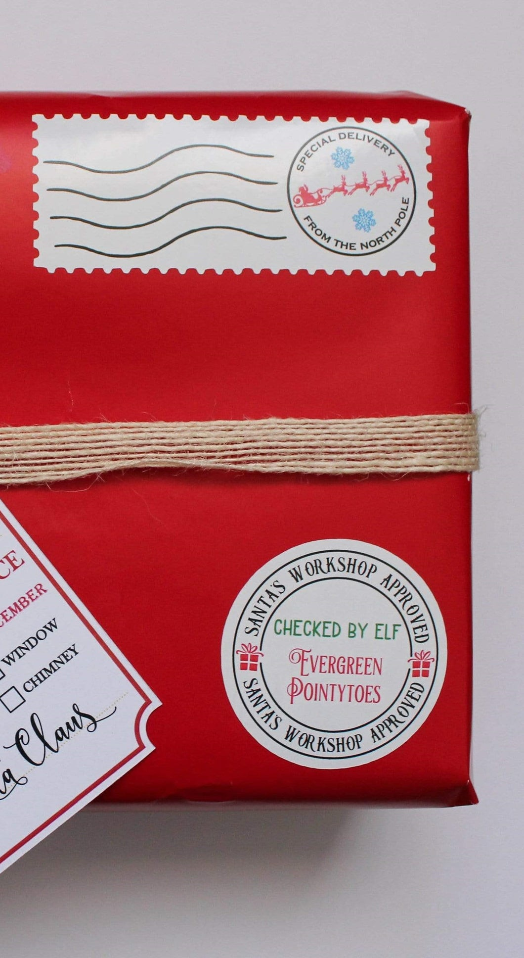 North Pole Stamp & Elf Approved Sticker Set