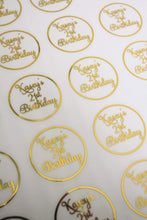 Load image into Gallery viewer, E&L Designs Special Birthday Clear Foil Stickers