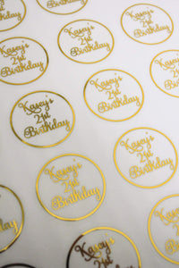 E&L Designs Special Birthday Clear Foil Stickers