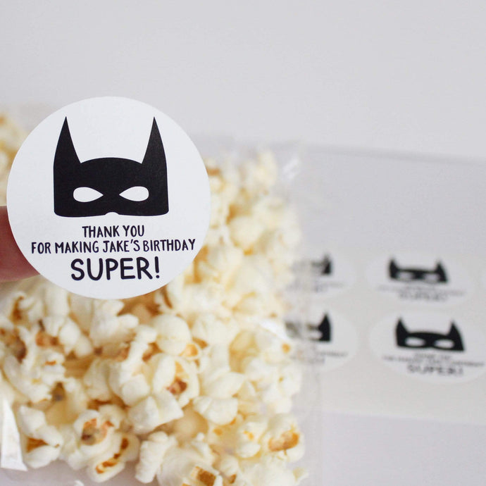 E&L Designs Superhero Party Stickers - Superhero Theme