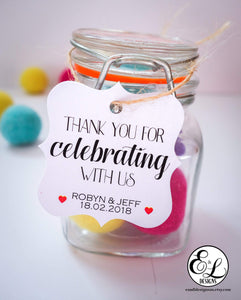 E&L Designs Thank You For Celebrating With Us Gift Tags - Pack of 24