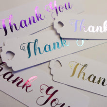 Load image into Gallery viewer, E&L Designs Thank You Long Swing Tags - Pack of 24 Tags