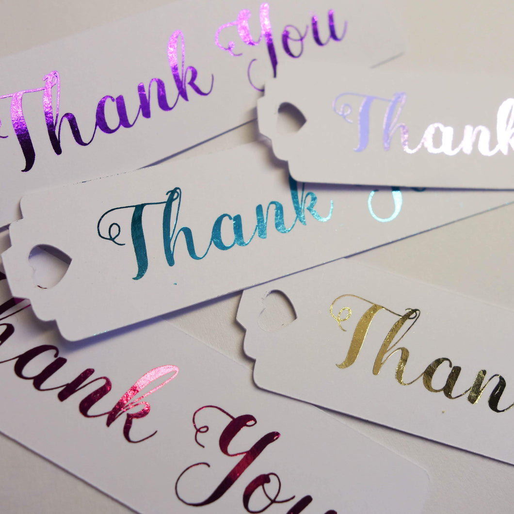 E&L Designs Thank You Long Swing Tags - Pack of 24 Tags