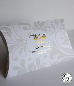 E&L Designs Thank You Wedding Foiled Stickers
