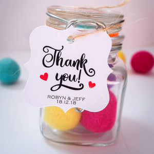 E&L Designs Thank You with Hearts Artisan Shaped Gift Tags - Pack of 24