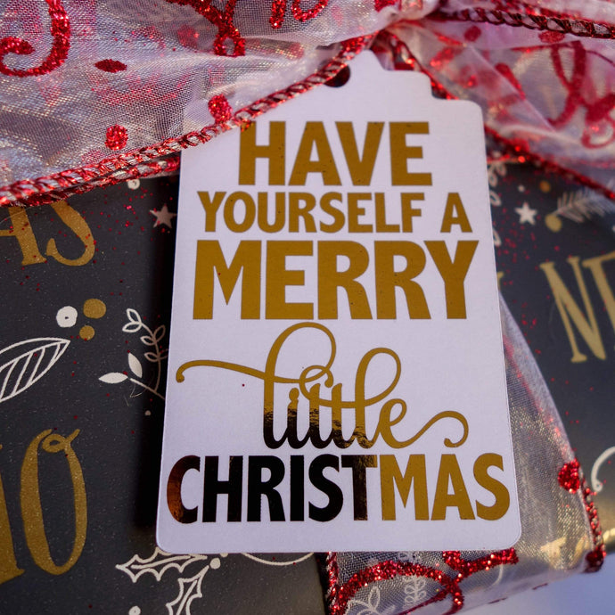 E&L Designs Traditional Foil Christmas Gift Tags - Pack of 10