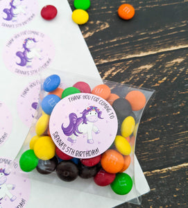 E&L Designs Unicorn Party Stickers