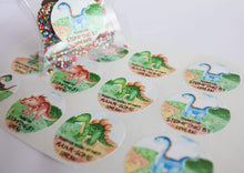 Load image into Gallery viewer, E&L Designs Watercolour Dinosaur Birthday Theme Stickers - Dinosaur Theme