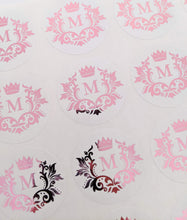 Load image into Gallery viewer, E&L Designs White Foil Monogram Flourish Stickers