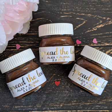 E&L Designs White Mini Nutella Jar Stickers with Foil - 30 Stickers