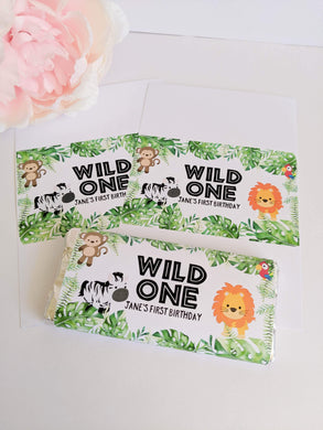 E&L Designs Wild One Jungle Chocolate Wrappers