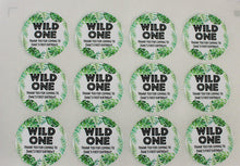 Load image into Gallery viewer, E&L Designs Wild One with Leaves Personalised Sticker