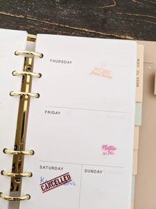 E&L Designs Work From Home Clear Foil Planner Sticker Sheet